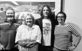 2014 judging panel (pictured) are: Sean Sennett, Sally McLennan, Ian Haug, and Adele Pickvance. From APRA-AMCOS site: http://www.apraamcos.com.au/news/2014/october/grant-mclennan-finalists/